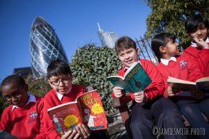 Photo of school kids reading