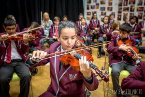 Photo of school orchestra