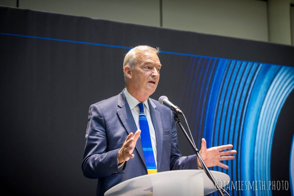 Photography of Jon Snow speaking at event for ITN