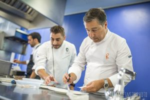 Photograph of the Roca brothers at London cooking event